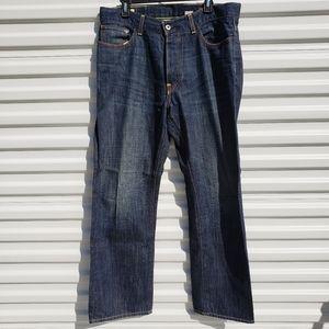 X2 dark wash regular rise straight leg jean 34x30